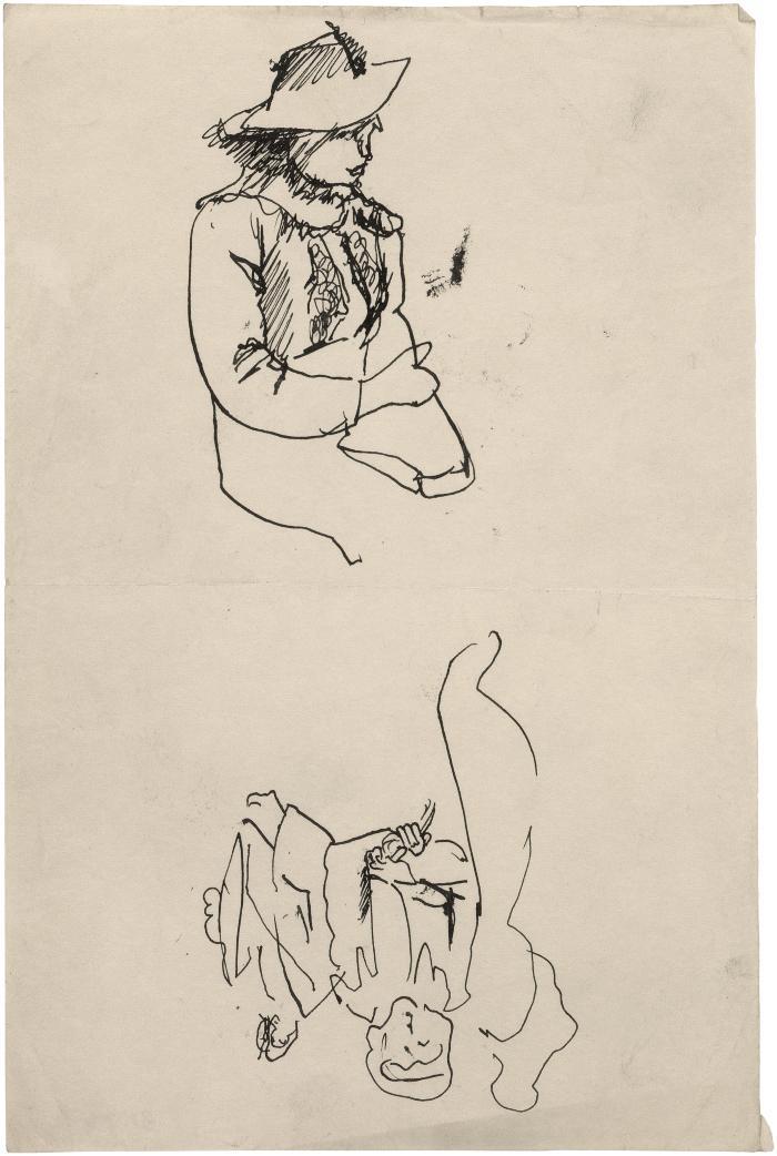 [Seated woman / figure group]