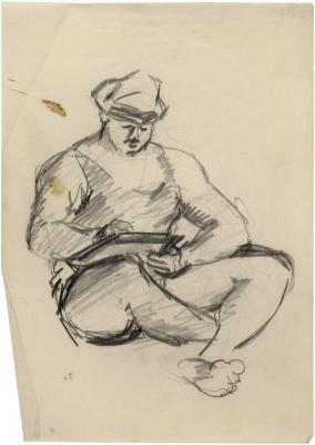 [Seated man with book]