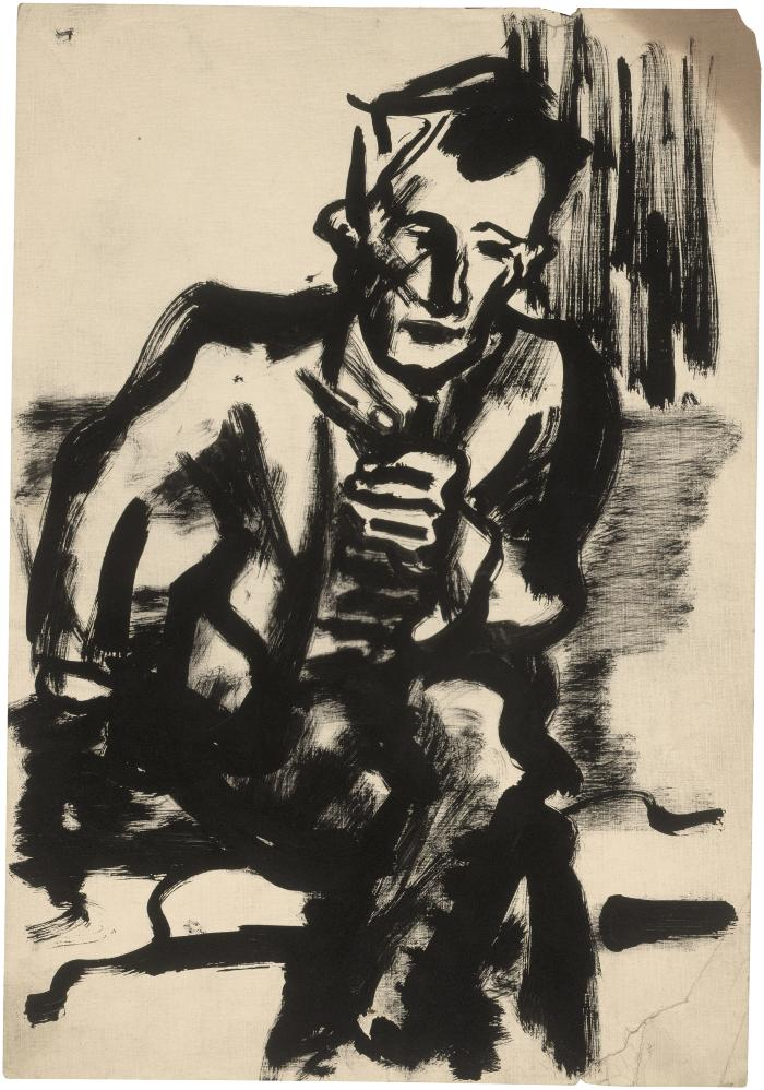 [Seated man with pipe]