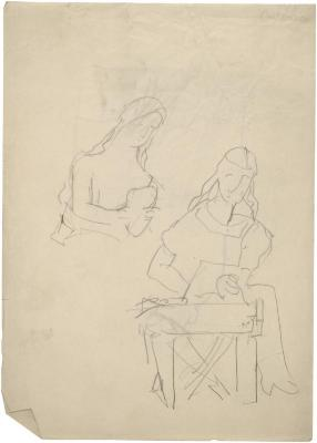 [Sculptress, two studies]
