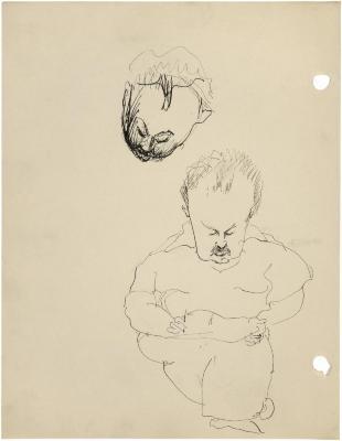 [Man drawing / head of a man]