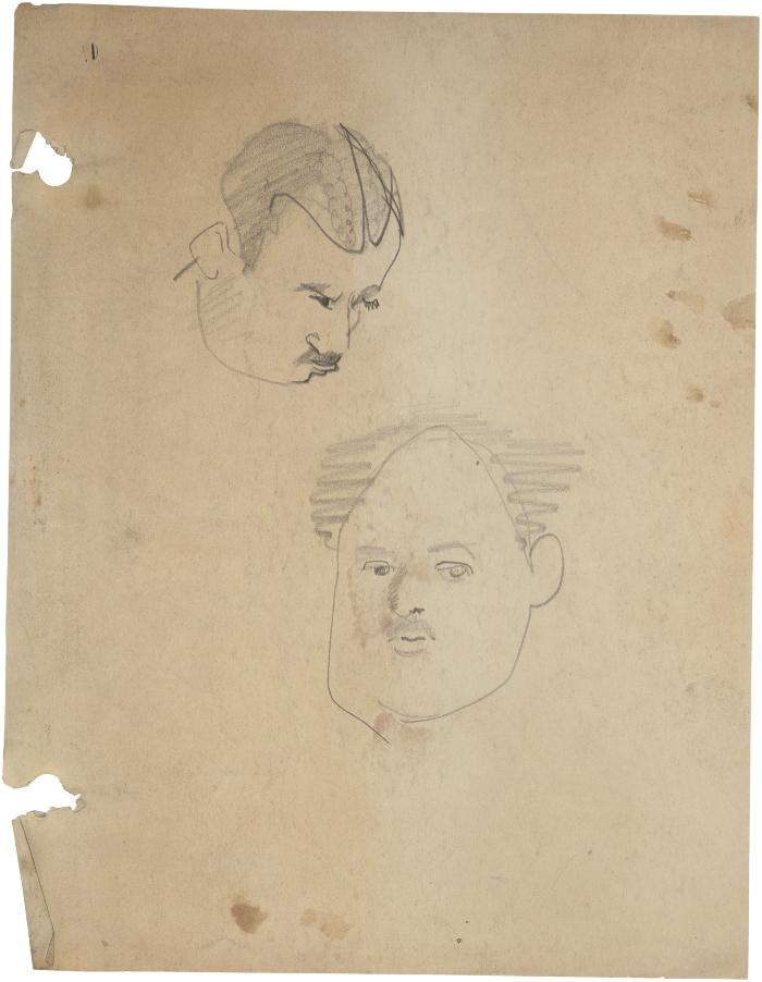 [Head of a man, two studies]