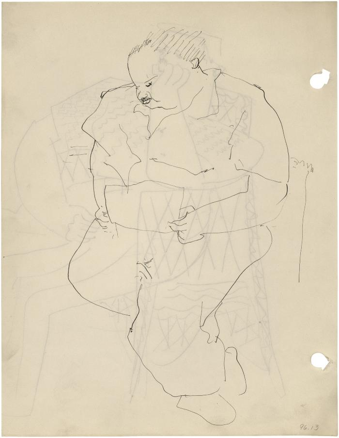 [Seated man drawing]