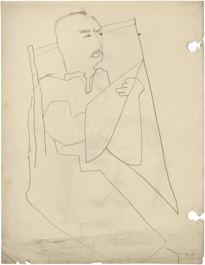 [Seated man drawing]