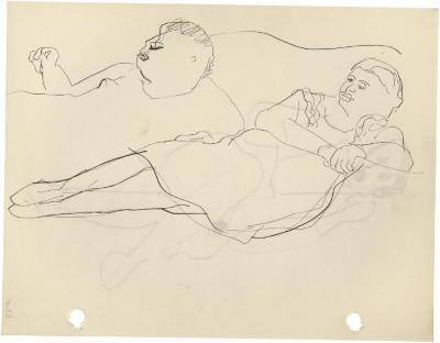 [Reclining man and woman]