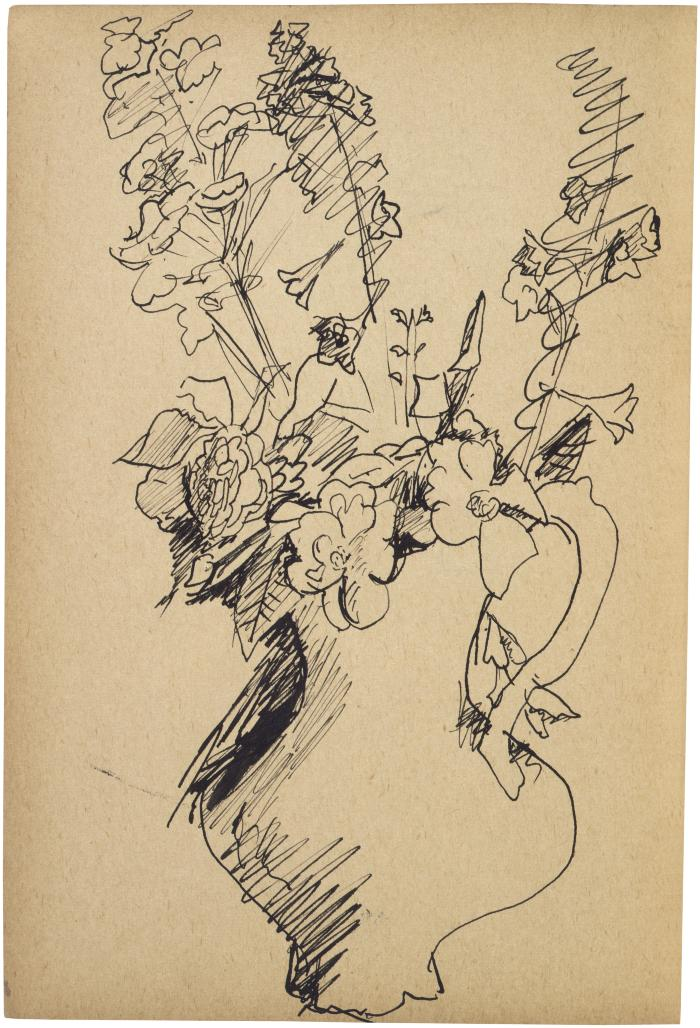 [Vase of flowers] The Scribble-In Book, page 15