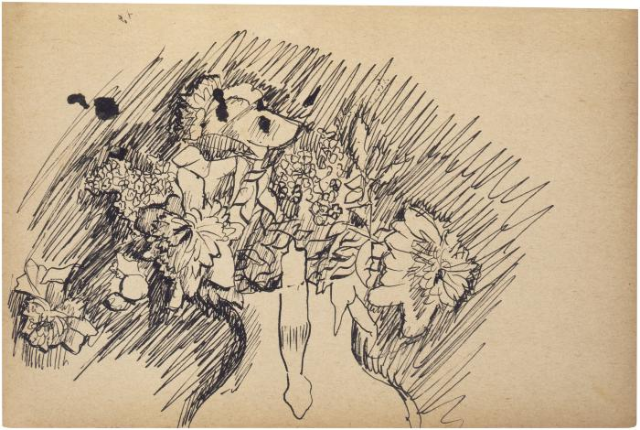 [Vase of flowers] The Scribble-In Book, page 27