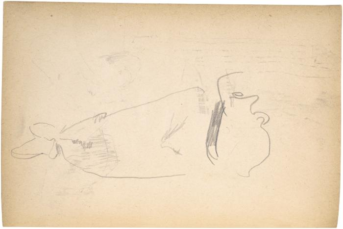 [Reclining figure, partial] The Scribble-In Book, page 68