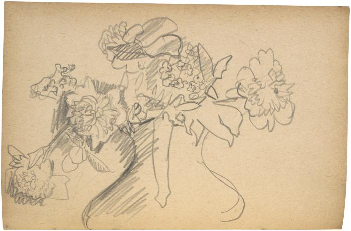 [Vase of flowers] The Scribble-In Book, page 22