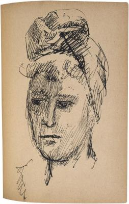 [Head of a woman] The Scribble-In Book, page 209