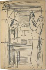 [Woman standing at work table] The Scribble-In Book, page 83