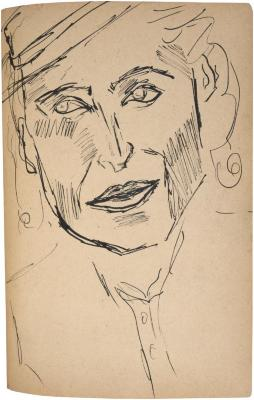 [Bust of a woman] The Scribble-In Book, page 211