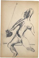 [Man with racquet and ball] The Scribble-In Book, page 98