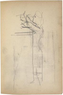 [Woman standing at table] The Scribble-In Book, page 81