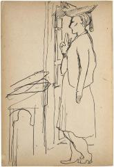 [Woman standing by window] The Scribble-In Book, page 122