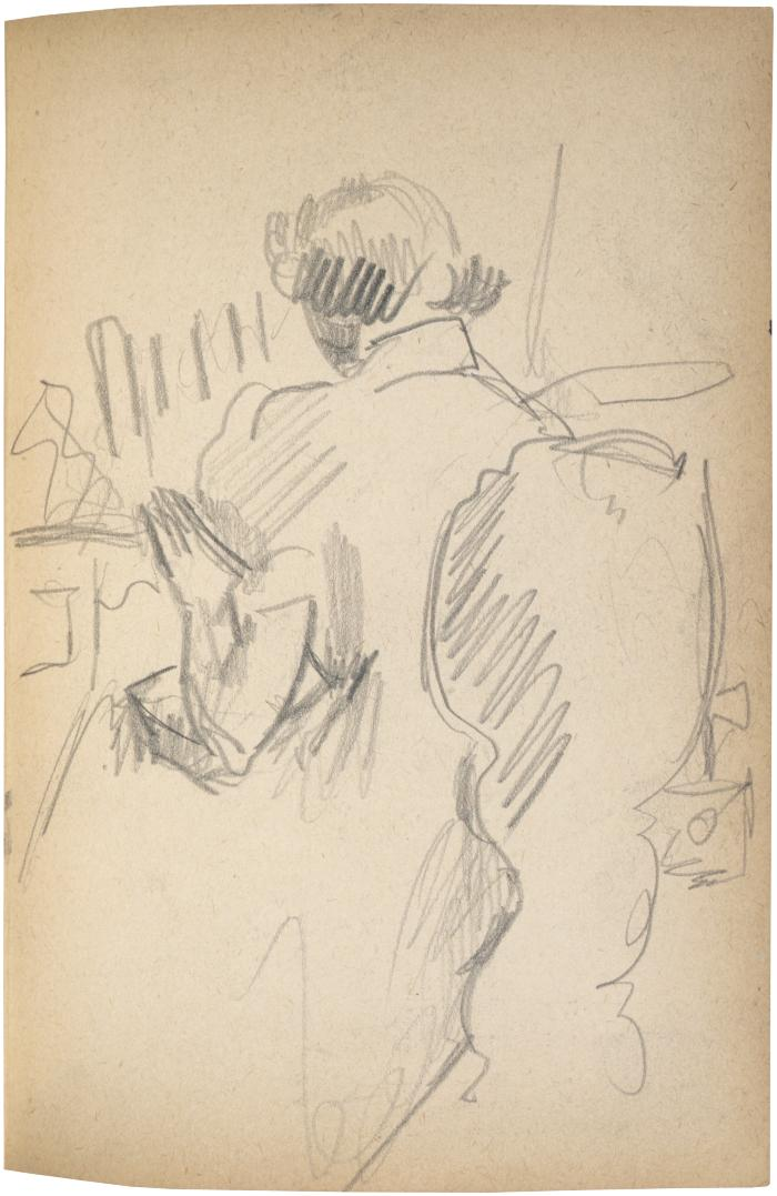 [Seated woman] The Scribble-In Book, page 101