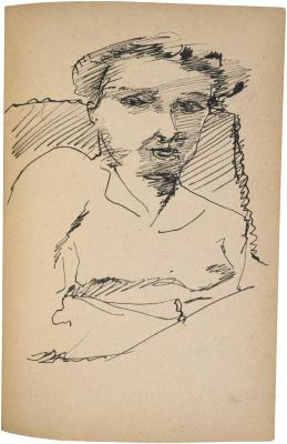 [Bust of a woman in chair] The Scribble-In Book, page 207