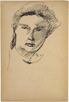[Head of a woman] The Scribble-In Book, page 208