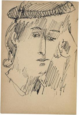 [Head of a woman] The Scribble-In Book, page 210