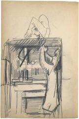 [Two figures at work table] The Scribble-In Book, page 80