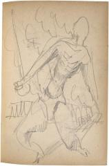 [Man with racquet and ball] The Scribble-In Book, page 99