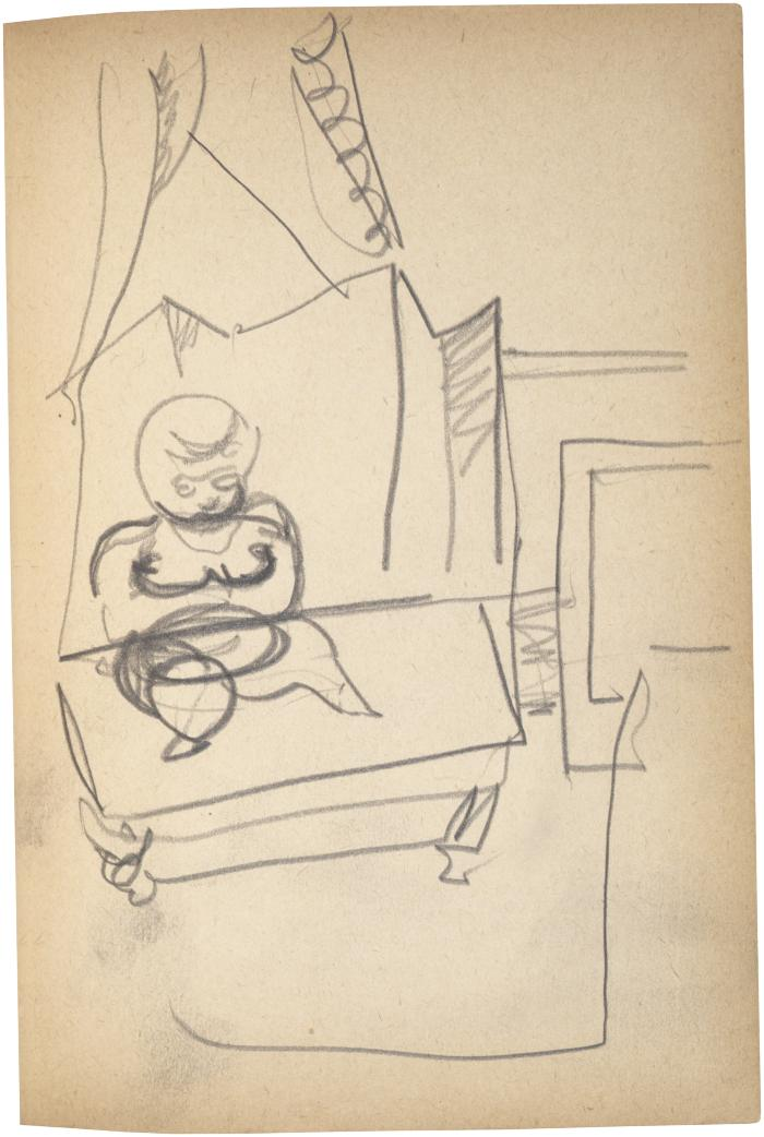[Figure on table] The Scribble-In Book, page 73