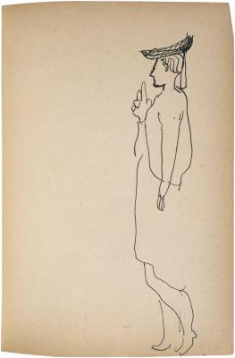[Standing woman] The Scribble-In Book, page 121