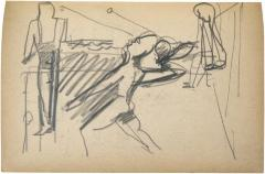 [Three figures, one with racquet and ball] The Scribble-In Book, page 95