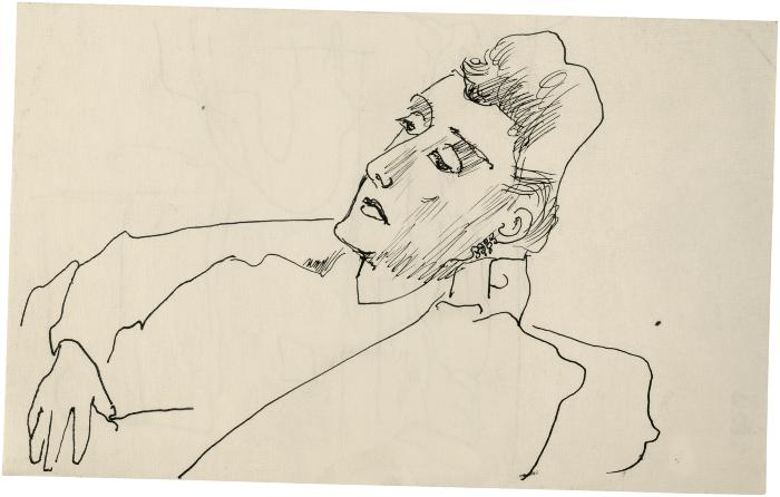 [Bust of a reclining woman]